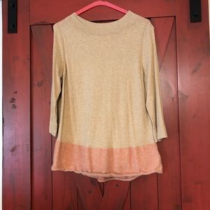 Super soft beige and pink sweater